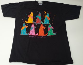 VintageJerzees Coyote Chorus 1988 graphic souvenir tshirt size L