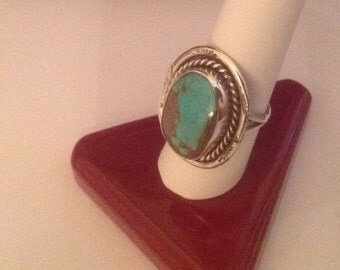 NATIVE AMERICAN TURQUOISE Ring...Vintage
