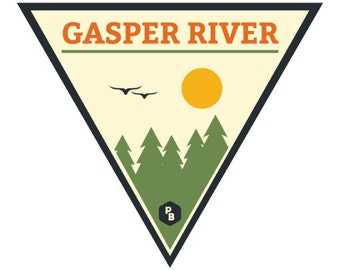 Gasper River Paddle Badge Decal, Kayak Art, Canoe Decal, Adventure Stickers, River Life, Kentucky Art