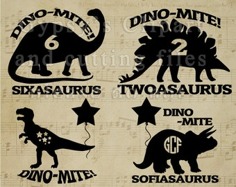Monogram dinosaur SVG, Dinosaur kid shirt, brontosaurus, tyrannosaurus rex, stegosaurus,triceratops, Cutting Files, Vinyl, SVG,