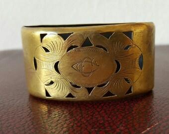 Antique Spanish Modernista Napkin Ring Art Nouveau Engraved Napkin Ring