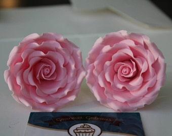 SMALL Handmade Edible Single Sugar Rose/Flower. Cake Topper