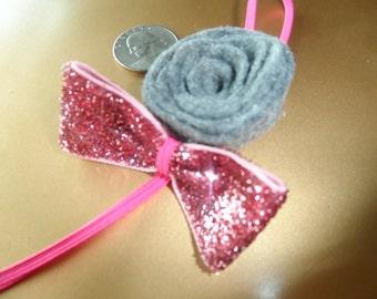 rose baby headband