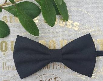 Boys black bow tie, Boys classic black bowtie, back to school bowtie,