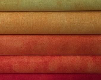 Textured Orange Fat Quarter Bundle 5