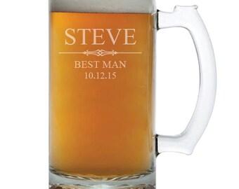 Groomsmen Beer Mug, Personalized Beer Mug, Engraved Beer Mug, Custom Beer Mug, Gift for Groomsmen, Beer Mugs, Wedding Favors, Beer Gifts