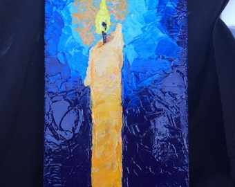 Let there be light palette knife painting