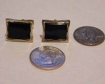 Vintage Anson cuff links with black onyx