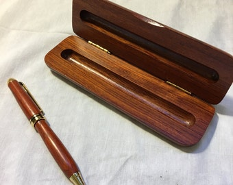 Twist Style Wooden Ballpoint Pen with Wood Box