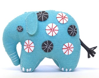 Felt Elephant Kit By Corinne Lapierre