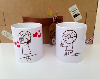 Custom mugs for a wedding