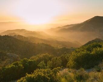 "large landscape print, wall art, home decor, ""Chasing Sunsets, landscape photo"