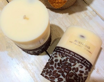 Coffee bean soy candle, coffee candle, soy candle