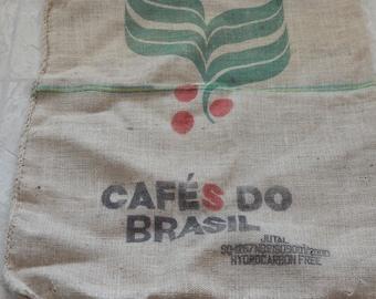 Vintage Coffee Bean Burlap Bags