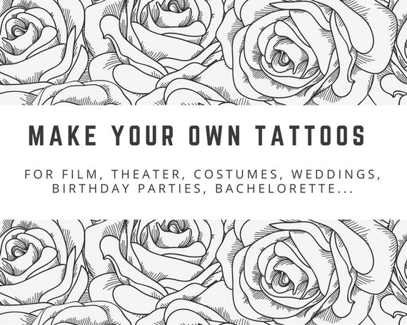 how to make a temporary tattoo with regular printing paper