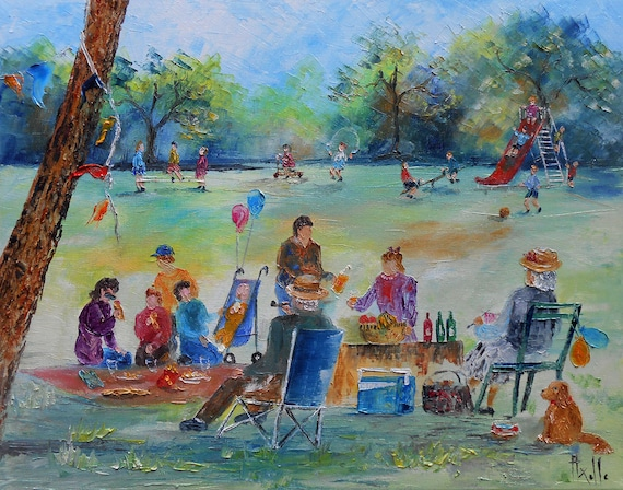 Painting The Picnic in the Park by TableauxAxelleBosler on ...