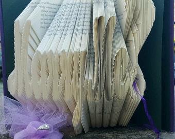 Unique Romantic Proposal Folded Book Art