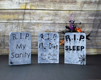 Halloween, Halloween Tombstone Decor, Halloween Decoration, Gothic Halloween Decor, Halloween Table Decor, Haunted House Decor, Party Decor