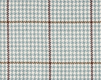 Tailored Bedskirt Pembrook Houndstooth Seaglass