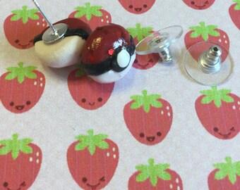 Kawaii Pokeball Stud Earrings from Pokemon