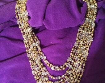 Vintage 9 Strand Necklace