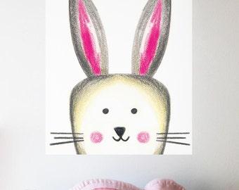 Happy Easter, Easter decor, INSTANT DOWNLOAD, Bunny digital, Easter Egg, Easter gift, Rabbit