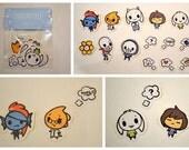 UnDERPtale Sticker Set Cute Stickers Frisk Asriel Sans Papyrus Alphys Undyne