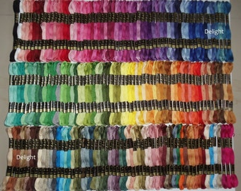 Anchor Embroidery Thread/Floss / Skeins in 200 Different Beautiful Colors