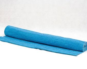 Blue/Turquoise Organic Cotton Yoga Rug