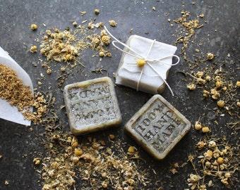 x2 Soaps Organic Chamomile & Elderflower - Handmade