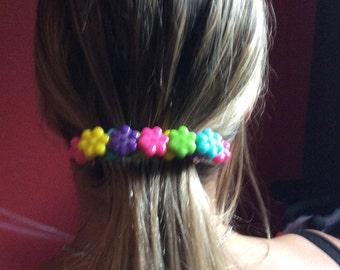 Barrette with flower candy