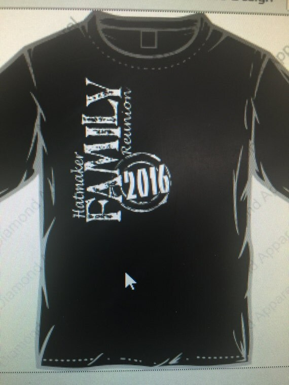 2016 custom family reunion t shirts with name and numbers on for Custom t shirts under 10