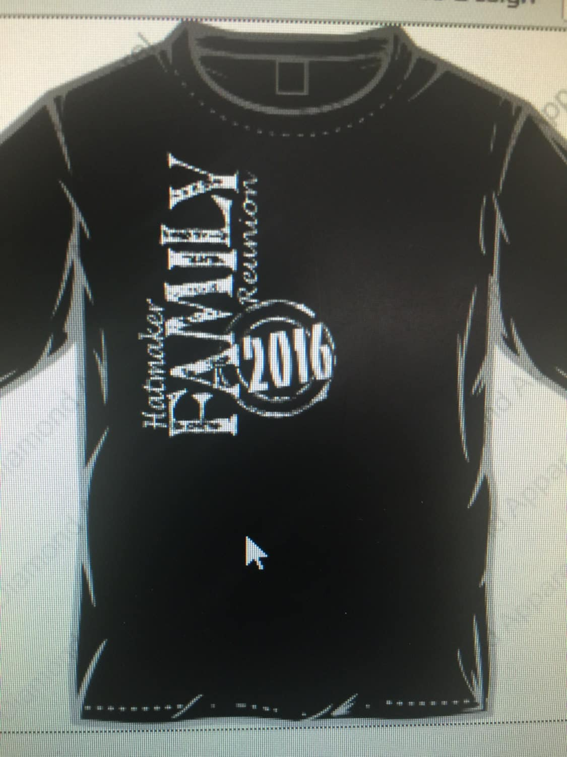2016 custom family reunion t shirts with name and numbers on