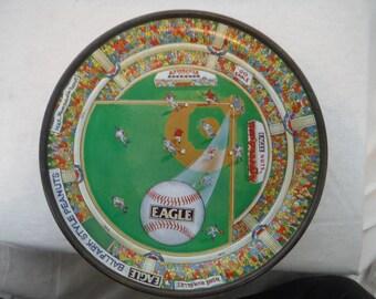 Vintage Eagle Nuts Ballpark Style Peanuts Tin- Antique, Vintage, Usable (#2)