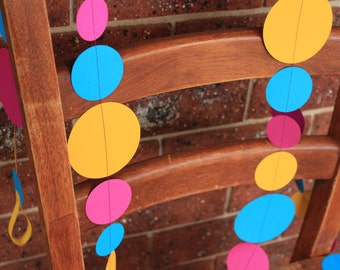 Bright Blue, Yellow & Magenta Garland 3m or 6m
