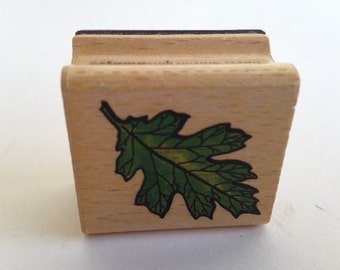 Maple Leaf - Fall - Nature Vintage Rubber Stamp - Card Making - Crafts