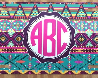 Purple Aztec Car Tag Etsy