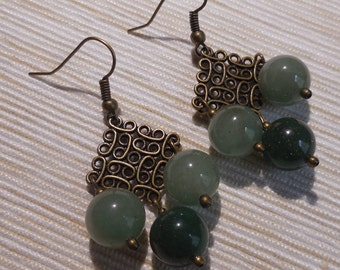 Beutiful Earrings in Aventurine
