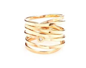 Bound - Gold & Diamond RIng