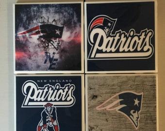 New England Patriots coaster set