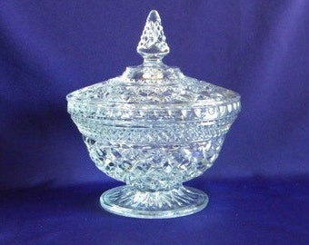 Vintage Wexford candy dish, 1970's, Retro Anchor Hocking,