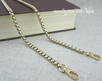 6mm Golden Chain Purse Strap, Replacement Shoulder Bag Chain