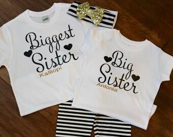 Big sister Shirt, Biggest Sister Shirt, little sister shirt, sister shirts, big sister shirt, little sister shirt, big brother shirt,