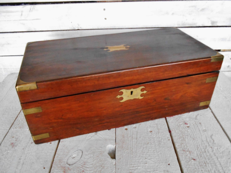 Antique Writing Box Lap Desk Victorian Writing Desk In