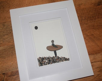 The Surf; Pebble art