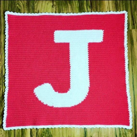 PDF Pattern crochet graphghan letter J graph j by ...