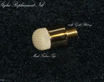 24kt gold finish Mesh Fabric stylus replacement tip