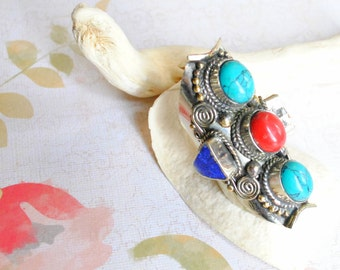 Tribal Tibetan Statement Ring
