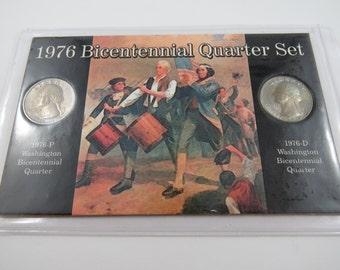 U.S. 1976 Bicentennial Quarter Set 1976 P 1976 D
