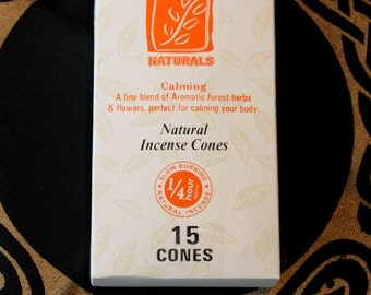 Incense cone forest Naturals calming